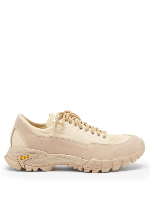 Diemme - Possagno Shell And Suede Trainers - Womens - Beige