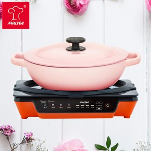 【MULTEE 摩堤】A4 Plus IH電磁爐+25cm萬用媽媽鍋