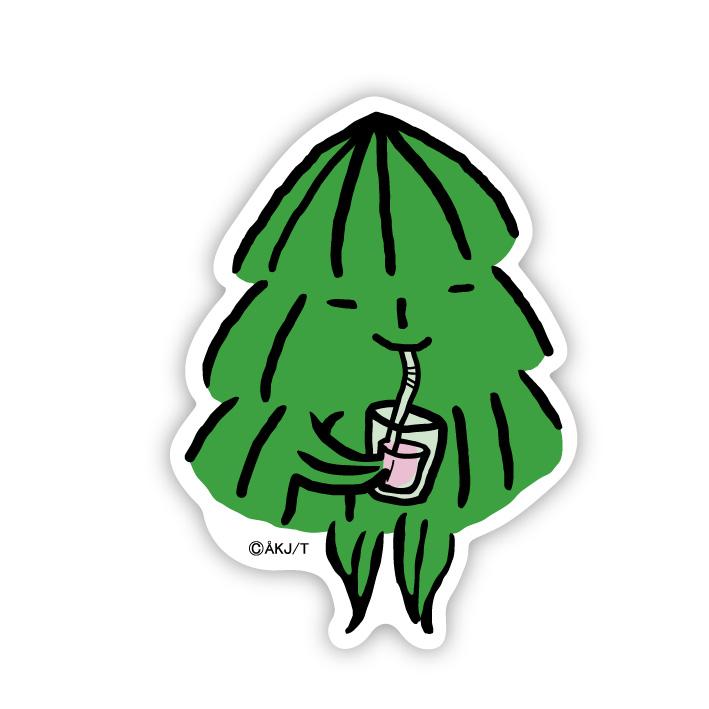 《酷比KUBBE》大貼紙-小杉喝飲料