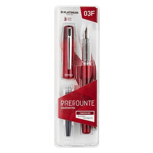 PLATINUM 白金 PREFOUNTE系列 超強防乾鋼筆 紅