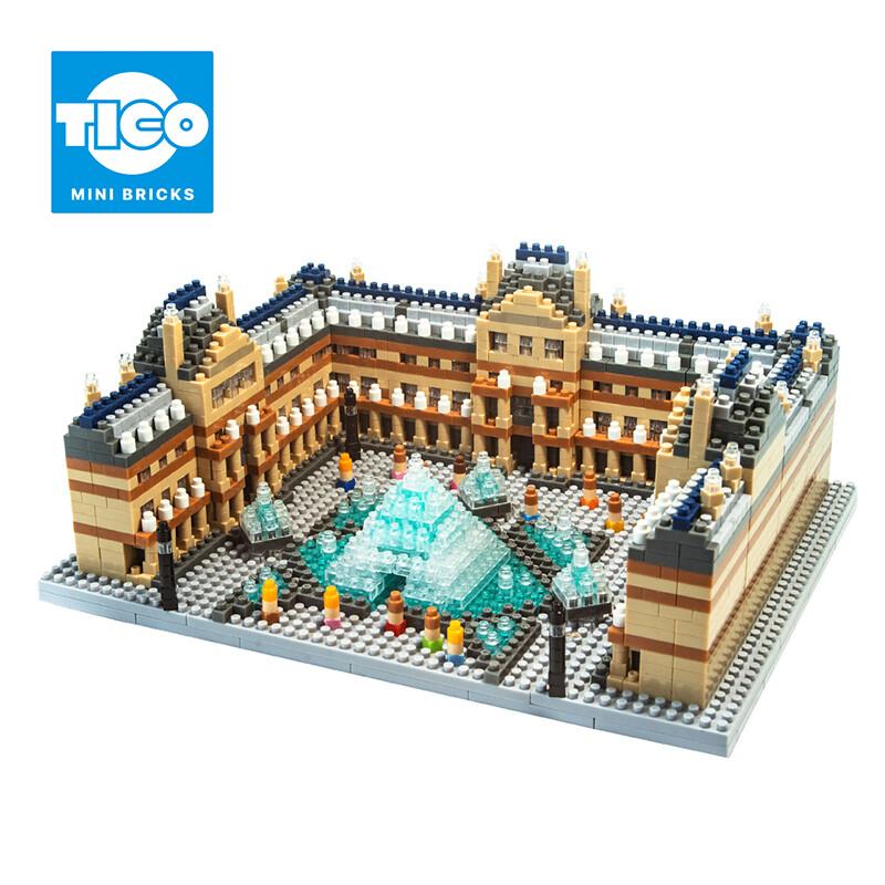 tico微型積木 歐洲建築系列 羅浮宮 裝飾 小物 古蹟 法國 巴黎 sgs檢驗合格 現貨