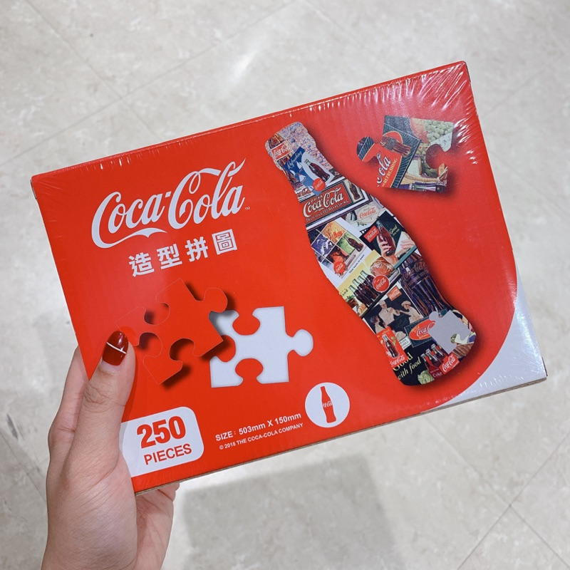 可口可樂 Coca-Cola 曲線瓶造型拼圖 全新 250片