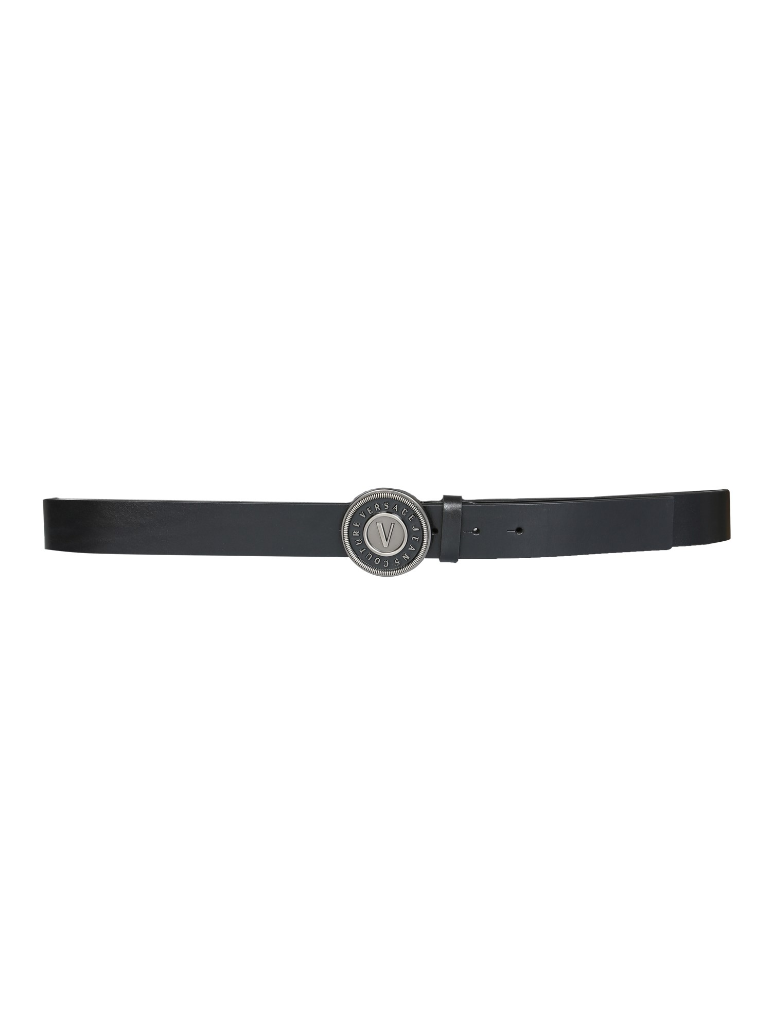 versace jeans couture belt with round buckle