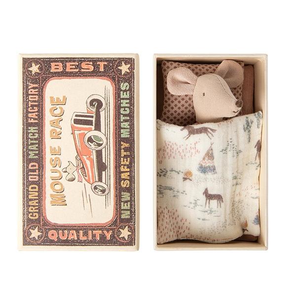 《Maileg》禮盒玩偶-小鼠妹妹格紋上衣