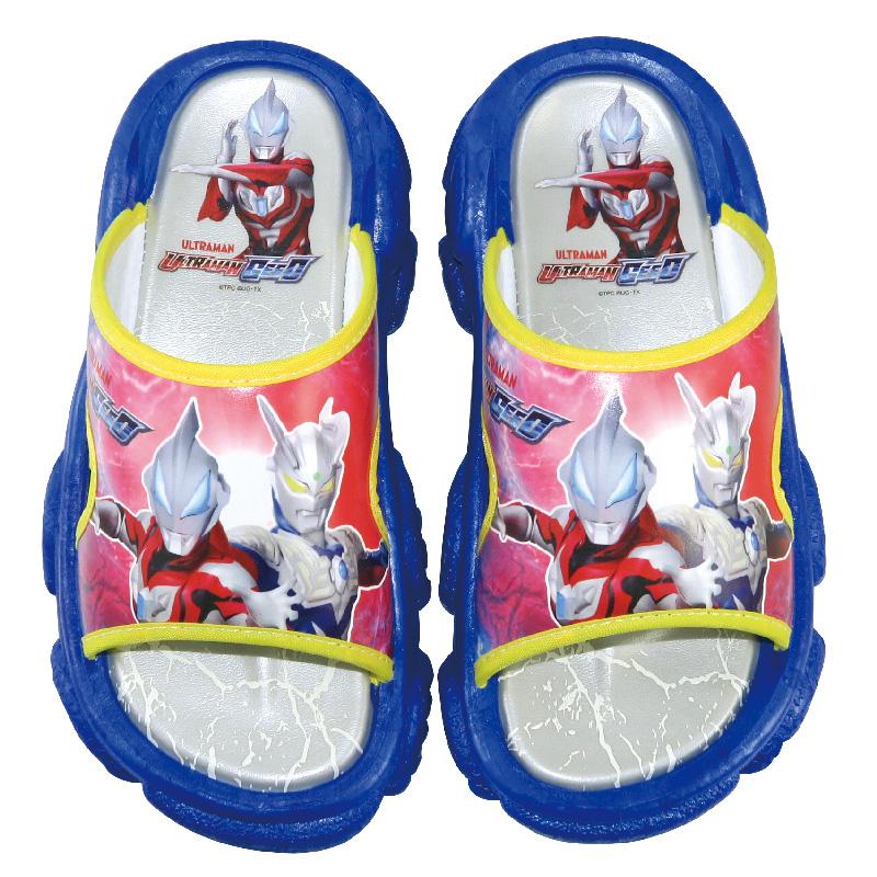 《超人力霸王》孩童拖鞋_藍
