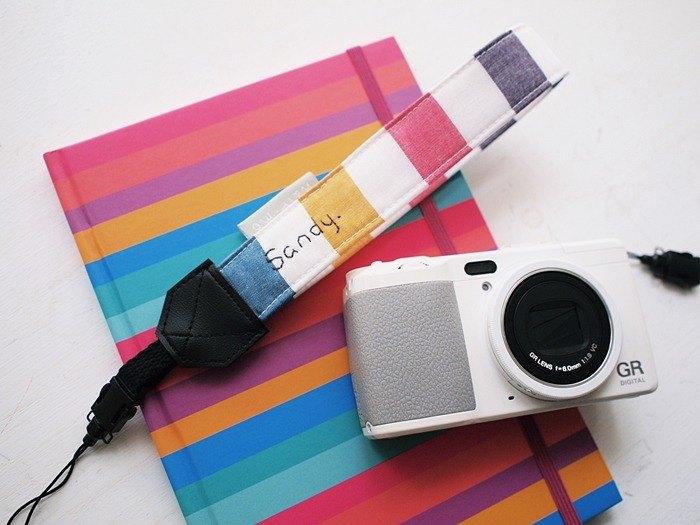 hairmo彩色方塊單孔手腕相機帶/手機帶(單小孔17)