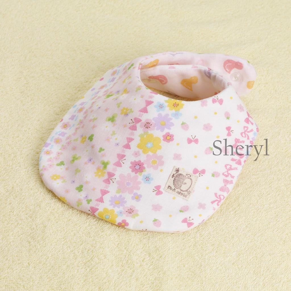 日本純手工製八層紗寶寶口水巾♡粉紅花園
