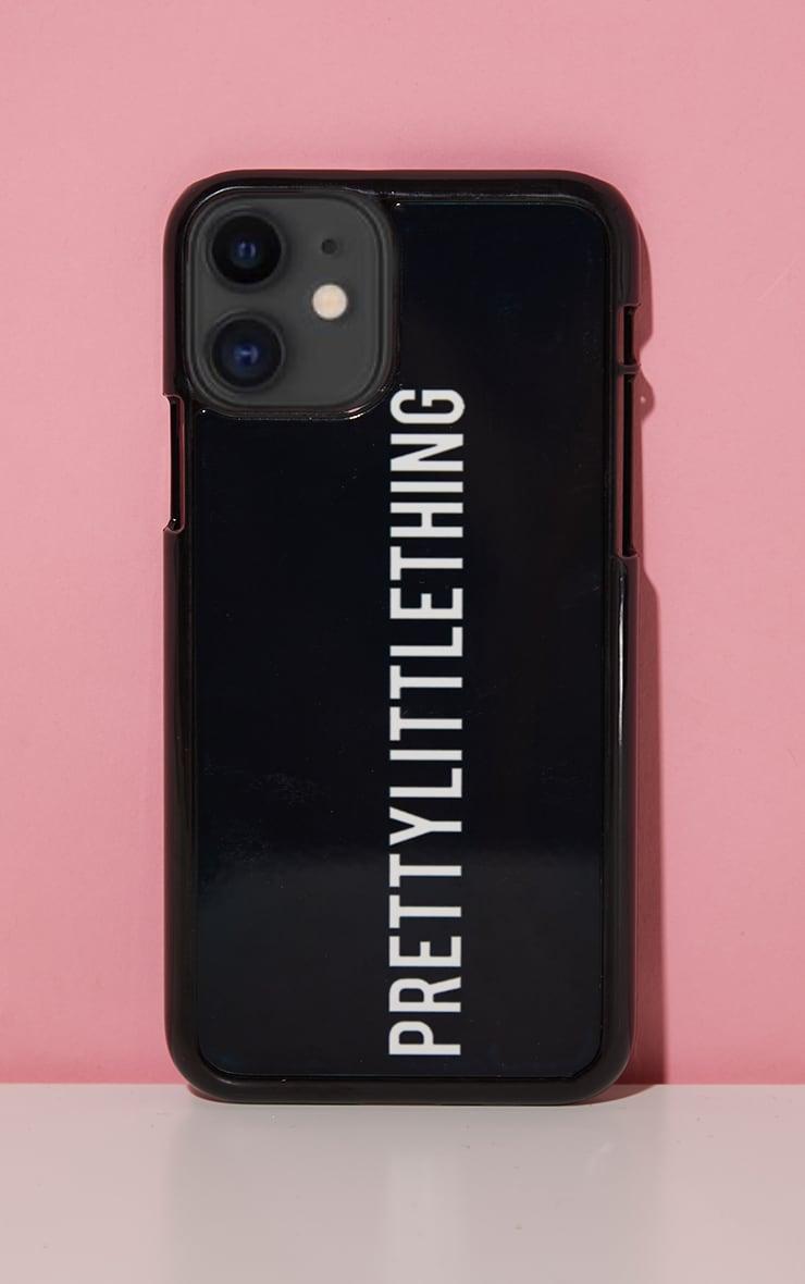 PRETTYLITTLETHING Black Logo 11 Pro iPhone Phone Case