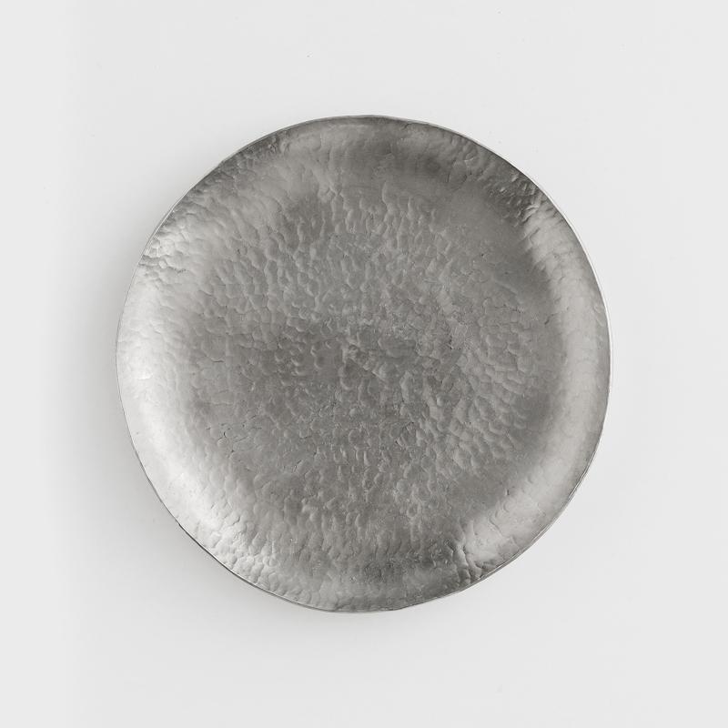 職人 錘目工藝 17.5cm 錫器淺盤|錘目|單品