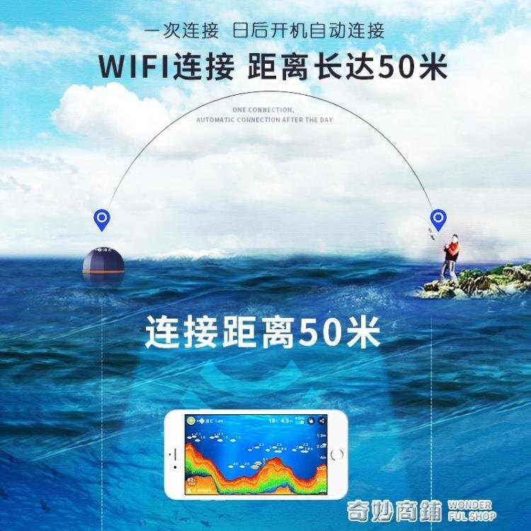 【快速出貨】高清可視水下探魚器手機無線超聲波聲納找魚測魚器釣魚探測器 聖誕節全館免運