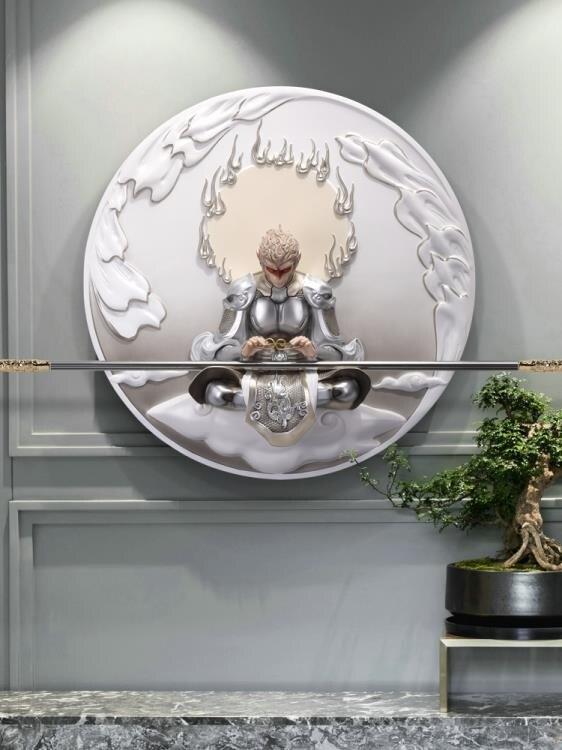 斗戰勝佛3D立體浮雕掛畫現代簡約客廳輕奢裝飾畫玄關書房壁畫悟空yh