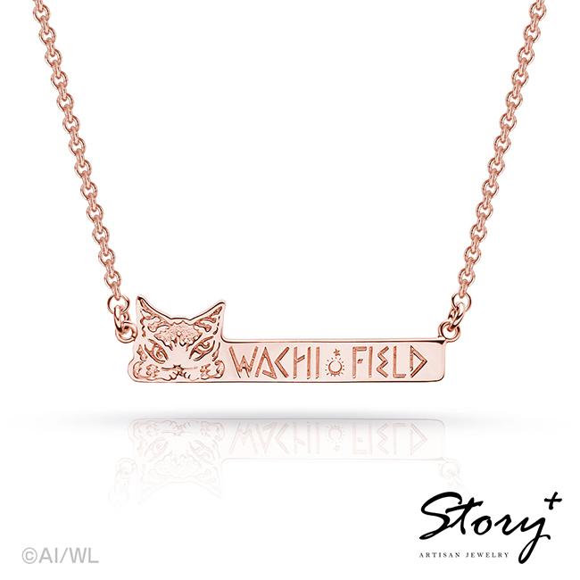 《Dayan 達洋貓 x Story+》純銀項鍊-長牌(玫瑰金)