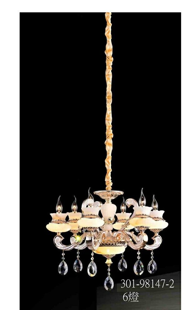 【燈王的店】北歐風 水晶吊燈6燈 客廳燈 餐廳燈 吧檯燈 301-98147-2