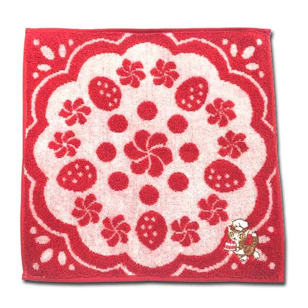 《達洋貓》方巾-草莓蛋糕
