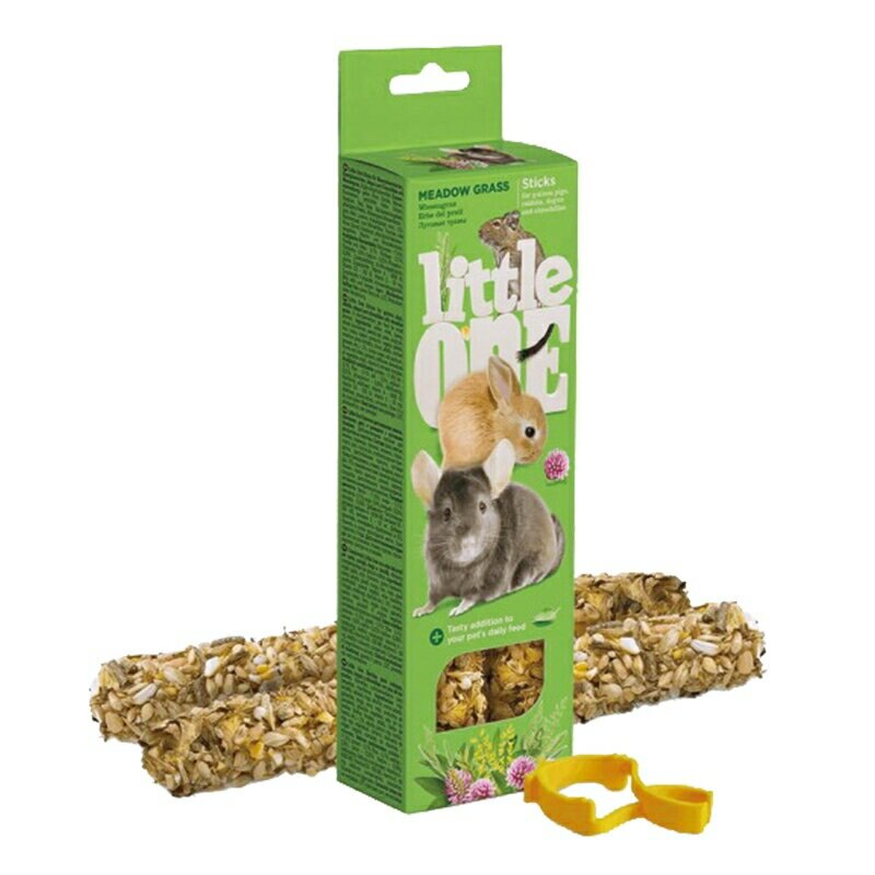 【德國 Little One 點心棒】 草草棒2支裝/盒 兔子 鼠寶 棒棒糖 磨牙點心棒系列 鼠兔零食