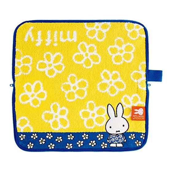 《Miffy》毛巾布收納包-白花藍洋裝