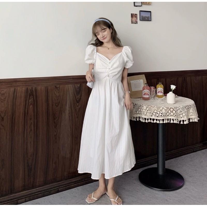 大碼法式復古超仙顯瘦連衣裙