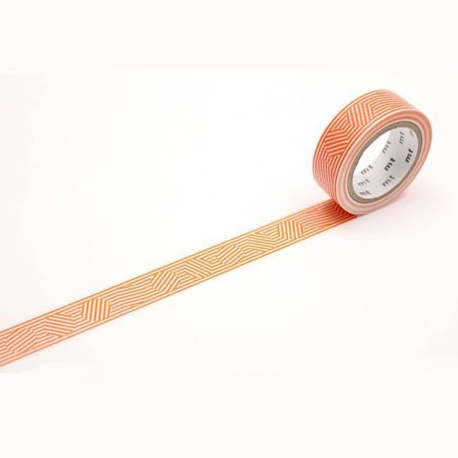 mt Masking Tape 和紙膠帶/ 1P/ Border & Circle Orange eslite誠品