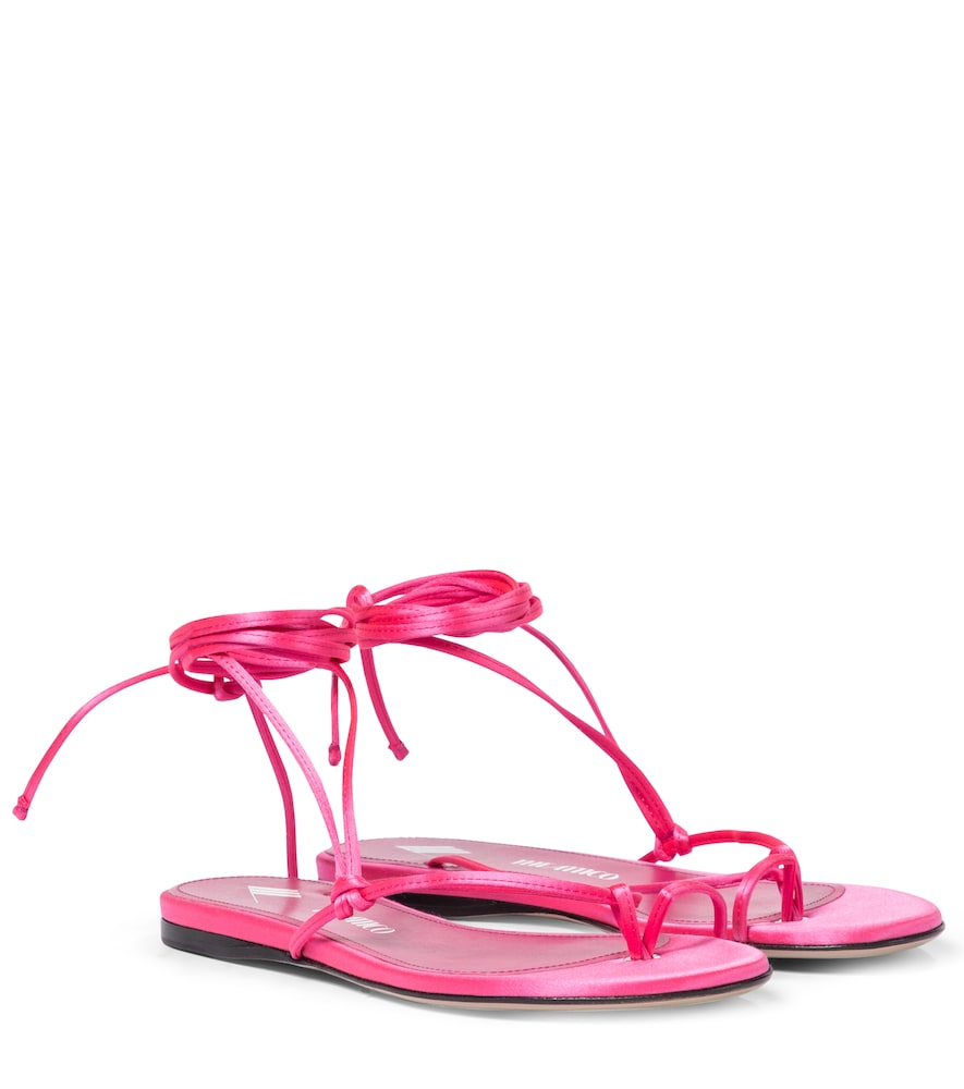 Kika satin thong sandals