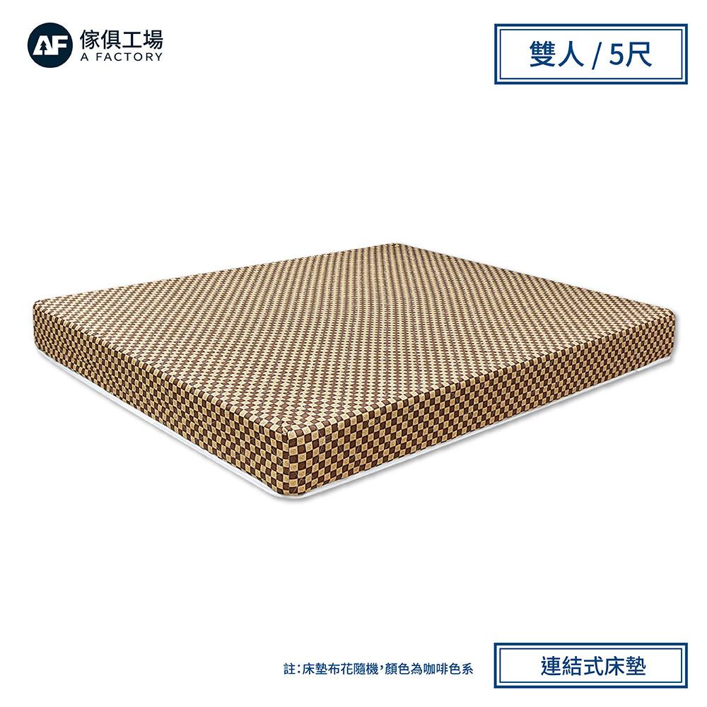 傢俱工場-小資款 硬式護脊蓆面兩用 彈簧床墊(偏硬) 雙人5尺
