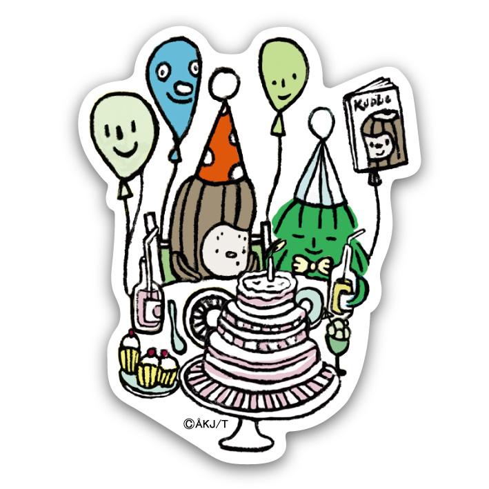 《酷比KUBBE》大貼紙-生日派對