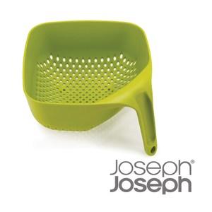 【Joseph Joseph】好好握方形可堆疊濾籃(綠)