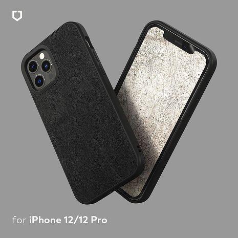 犀牛盾 iPhone 12 mini/12/12 Pro/12 Pro Max Solidsuit 防摔背蓋手機殼 - 皮革黑12 mini(5.4