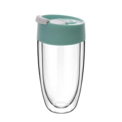 【PO:Selected】丹麥奇法雙層玻璃杯325ml(藍綠)