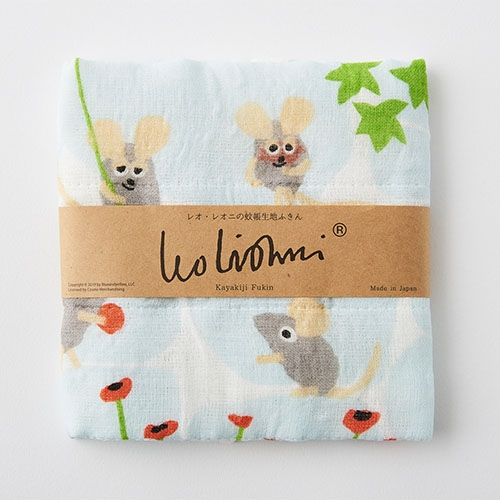 《Leo Lionni》紗布毛巾-阿佛(藍)