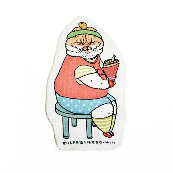《不可思議的貓世界》造型小毛巾-可麗餅