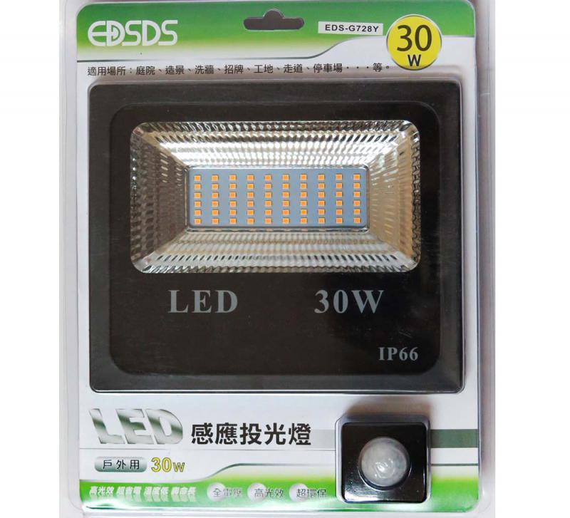 30W LED感應投光燈 白光