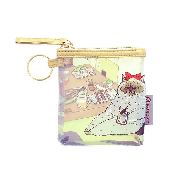 《不可思議的貓世界》透明零錢包-貴妃款