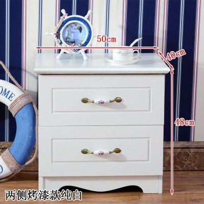 簡易烤漆床頭櫃歐式簡約現代儲物櫃臥室多功能組裝收納床邊櫃