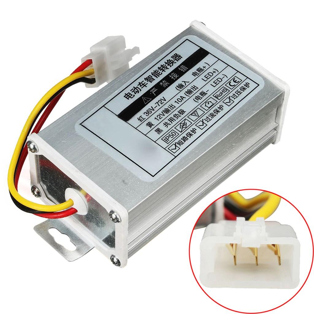 電壓轉換器適配器向下變壓器DC 36V 48V 72V至12V 10A BrZone