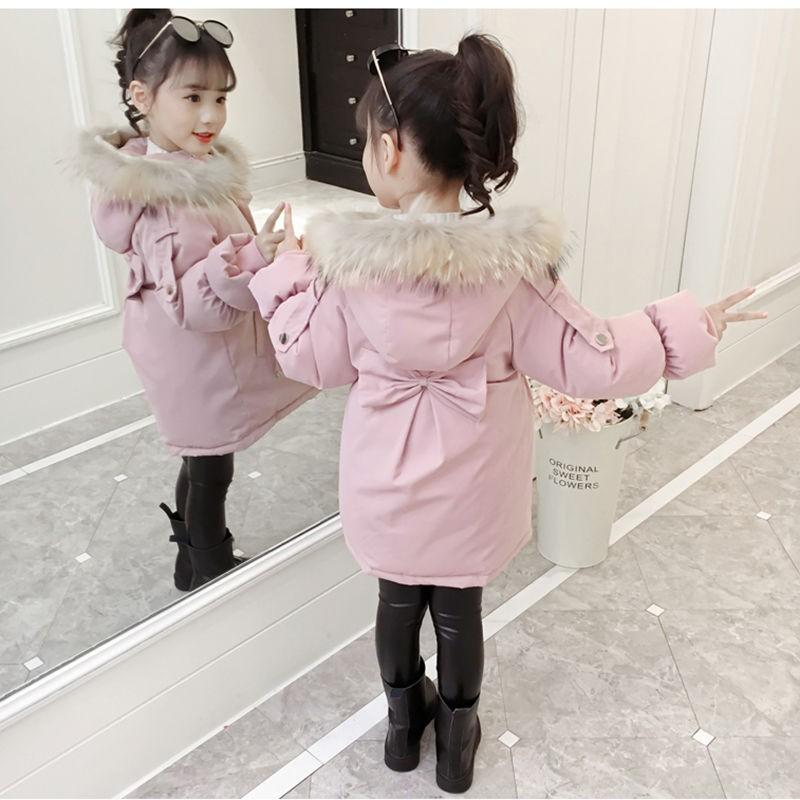 優質現貨童裝兒童棉衣小女孩冬天棉襖外套2020新款洋氣中長款加厚加絨棉服