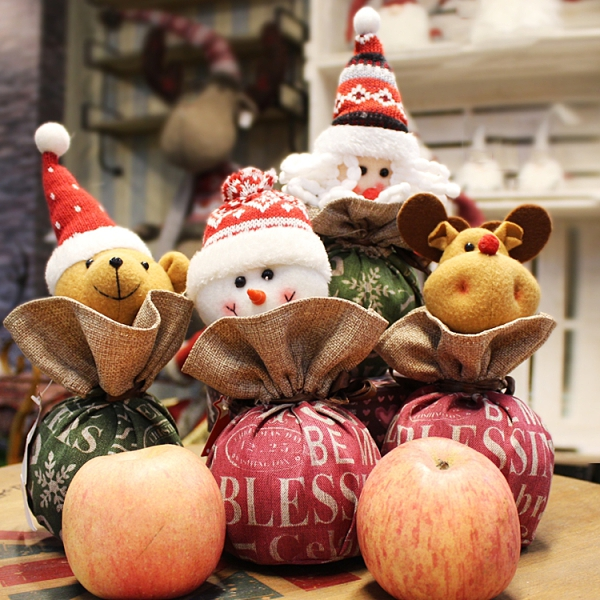 圣誕平安果包裝盒糖果袋