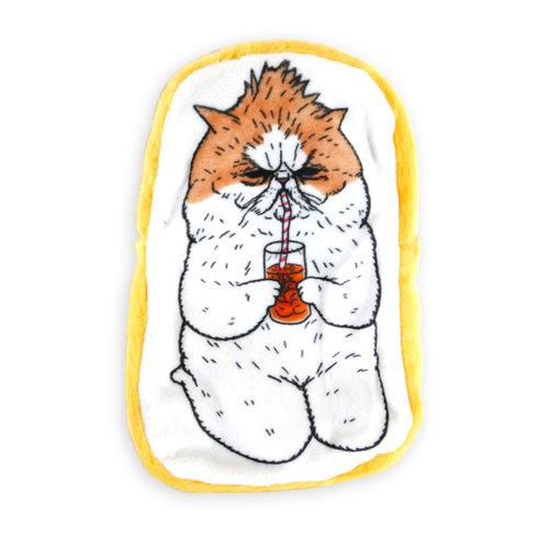 《不可思議的貓世界》收納包-喝飲料