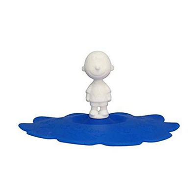 《Snoopy》花邊矽膠杯蓋-查理布朗