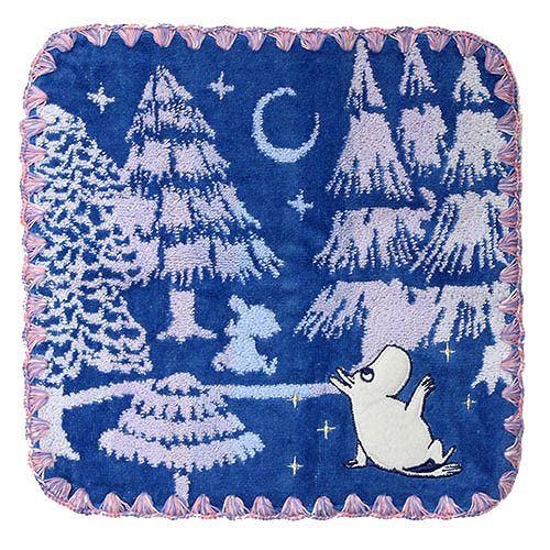 《Moomin》丸真小方巾-星空