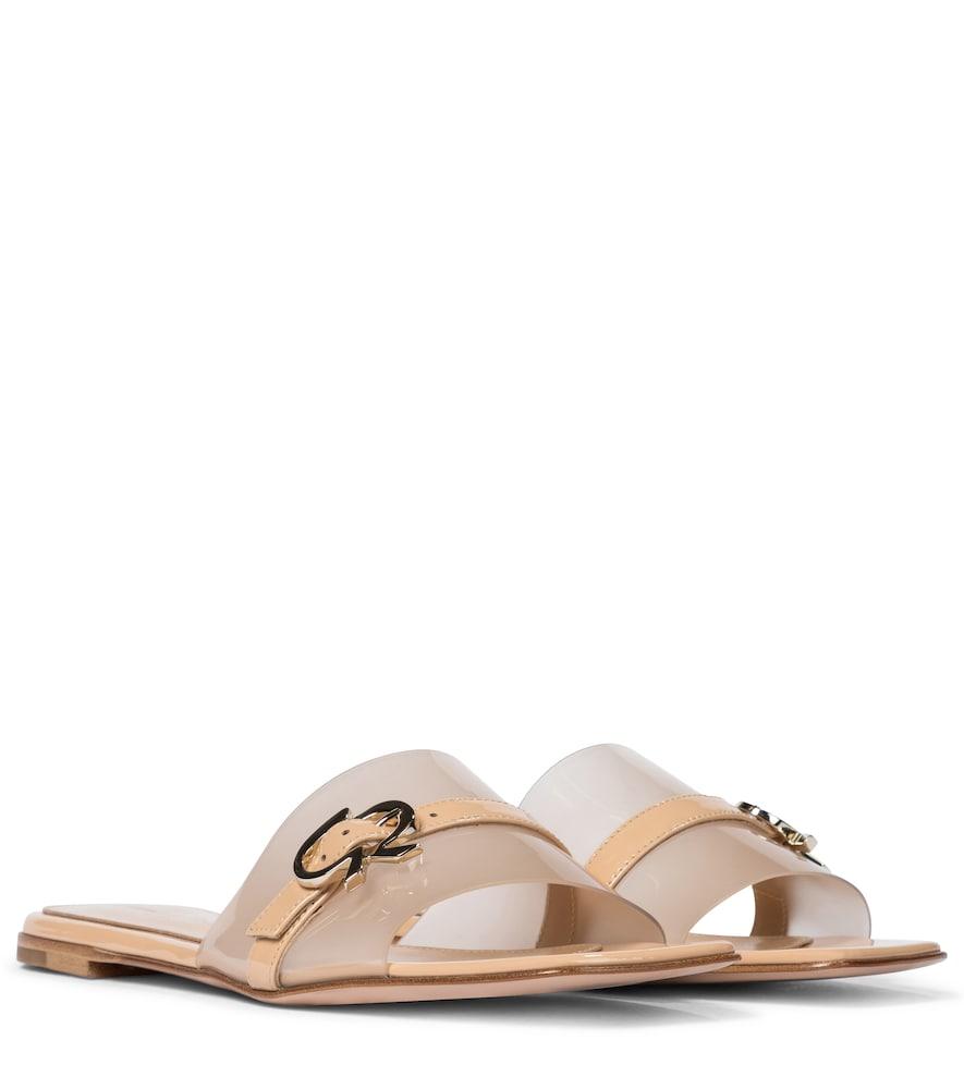 Gemini patent leather sandals