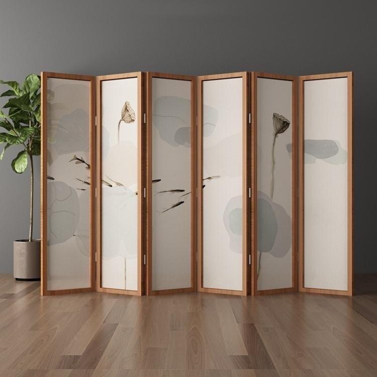 屏風隔斷客廳摺疊行動簡約現代實木簡易酒店裝飾新中式辦公室折屏 【居家家】