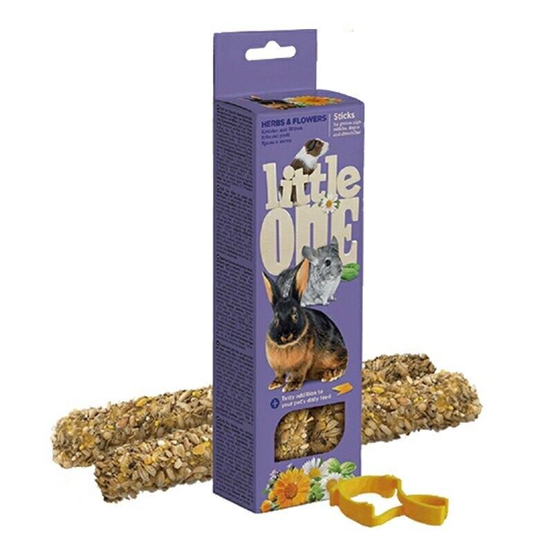【德國 Little One 點心棒】 花草棒2支裝/盒 兔子 鼠寶 棒棒糖 磨牙點心棒系列 鼠兔零食