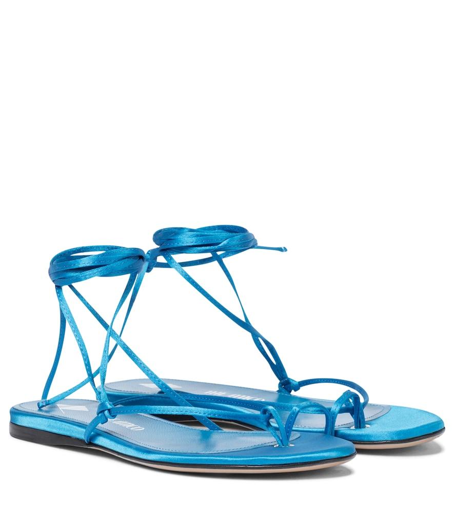 Exclusive to Mytheresa - Kika satin thong sandals