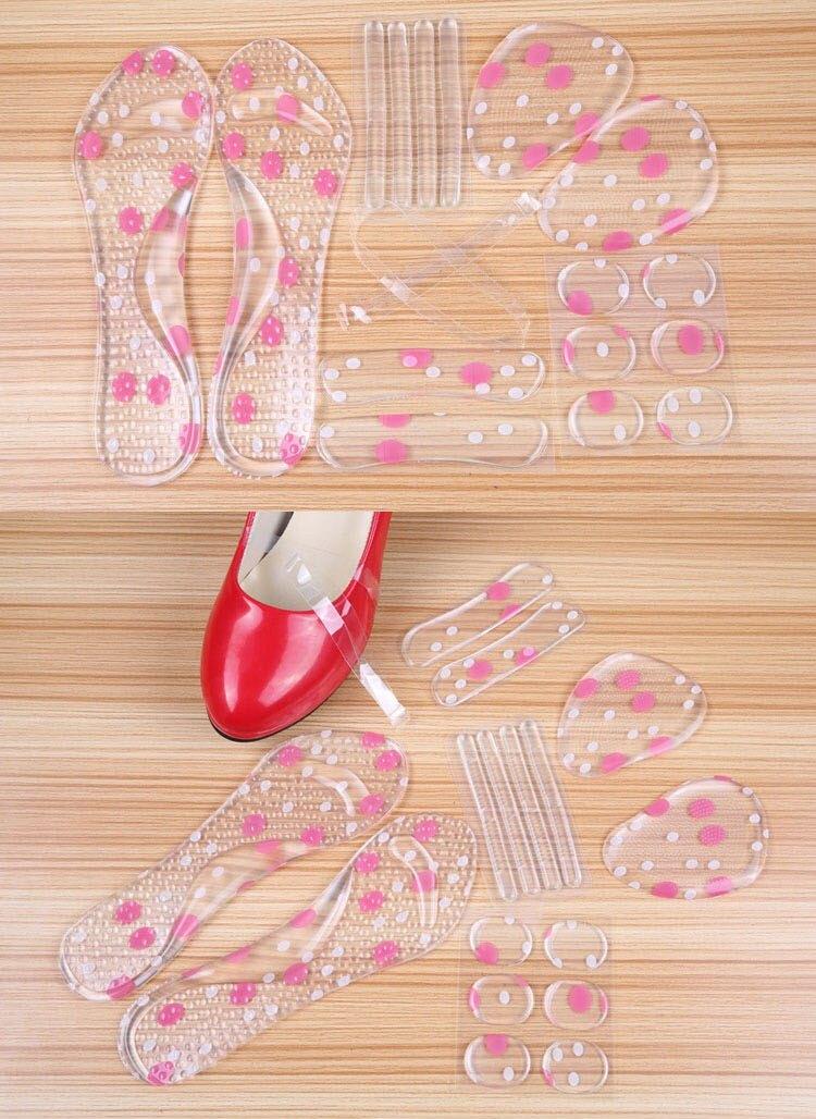 矽膠鞋墊6件套 (束鞋帶+小圓貼+細條貼+後跟貼+前掌墊+七分墊)【AF02184】