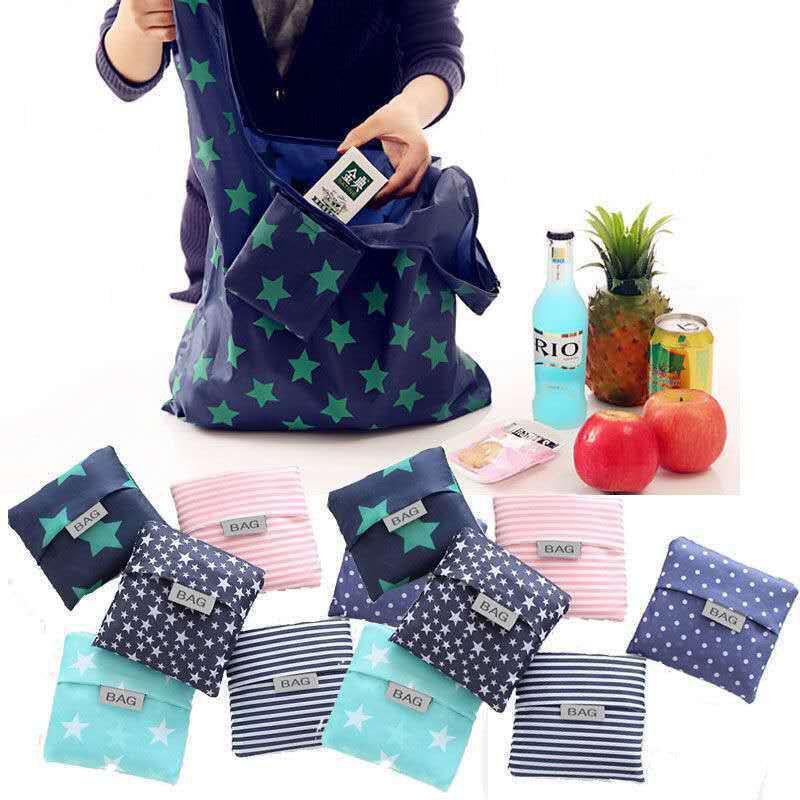 便攜購物袋 防水折疊環保牛津布 超市學生時尚主婦買菜 批發收納袋 sZux