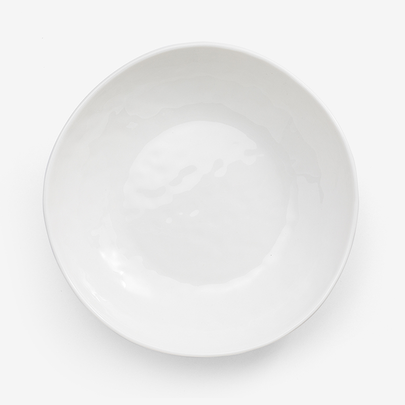 日式 淨白波紋 21cm 陶瓷沙拉碗|單品