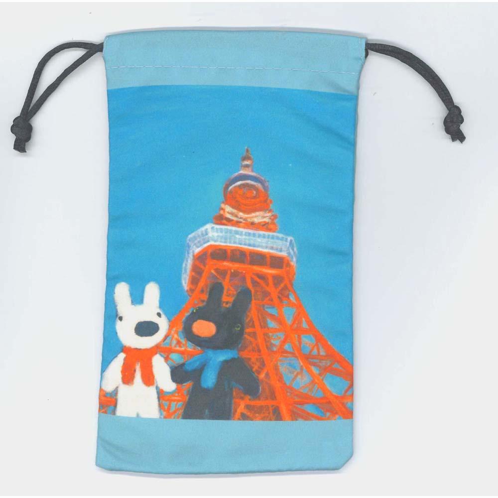 《麗莎和卡斯柏》小物收納束口袋-東京鐵塔
