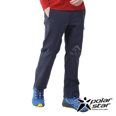 【PolarStar】中性 彈性耐磨保暖長褲『黑藍』P20403