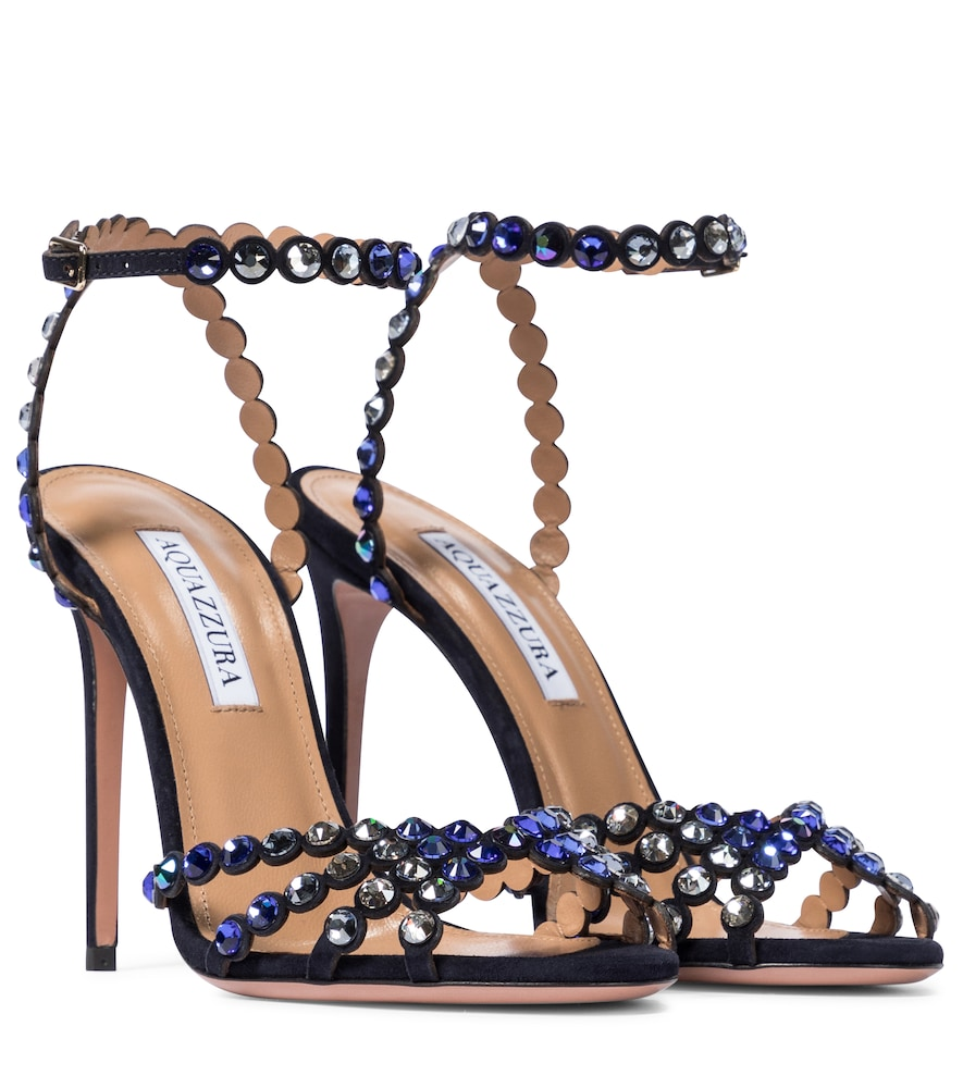 Exclusive to Mytheresa - Tequila 105 embellished suede sandals