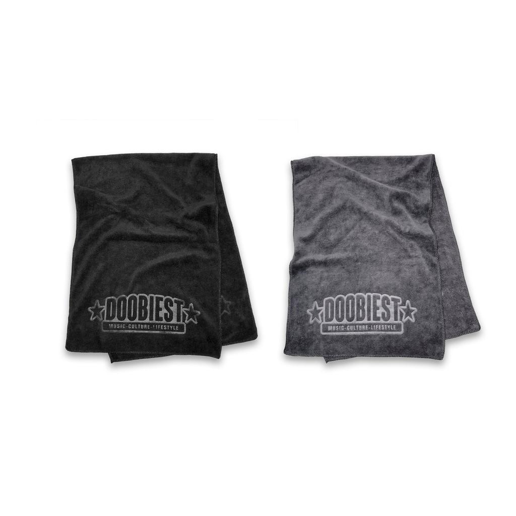 超吸水 舒適不掉色 壓花 - 運動毛巾 (黑色/灰色)【DOOBIEST】